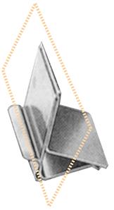 Edelstahl-Tabletthalter, 10 Stück pro Karton