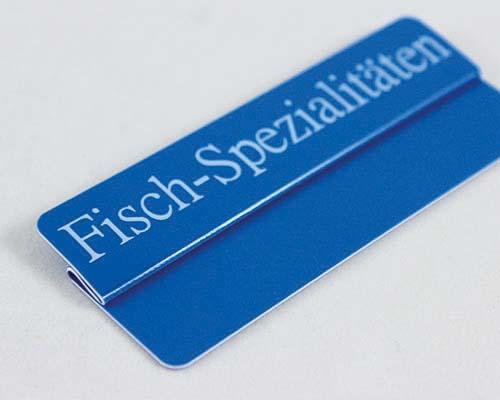 """Aktionsreiter, 86 x 18 mm, """"Fisch-Spezialitäten"""", 10 Stück pro Pack"""