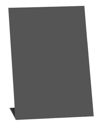 Tafelaufsteller in L-Form, DIN A7, Hochformat, schwarz, 5 Stück pro Pack