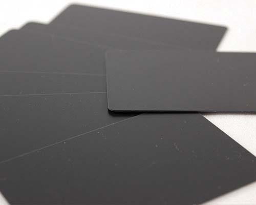 Plastikkarten, 86 x 54 x 0,76 mm, schwarz matt, 100 Karten pro Pack