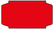 Haftetiketten, permanent, 31 x 19 mm, rot, 32 Rollen à 1.000 Etiketten