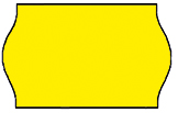 Haftetiketten, permanent, 26 x 12 mm, Leuchtfarbe gelb, 36 Rollen à 1.000 Etiketten