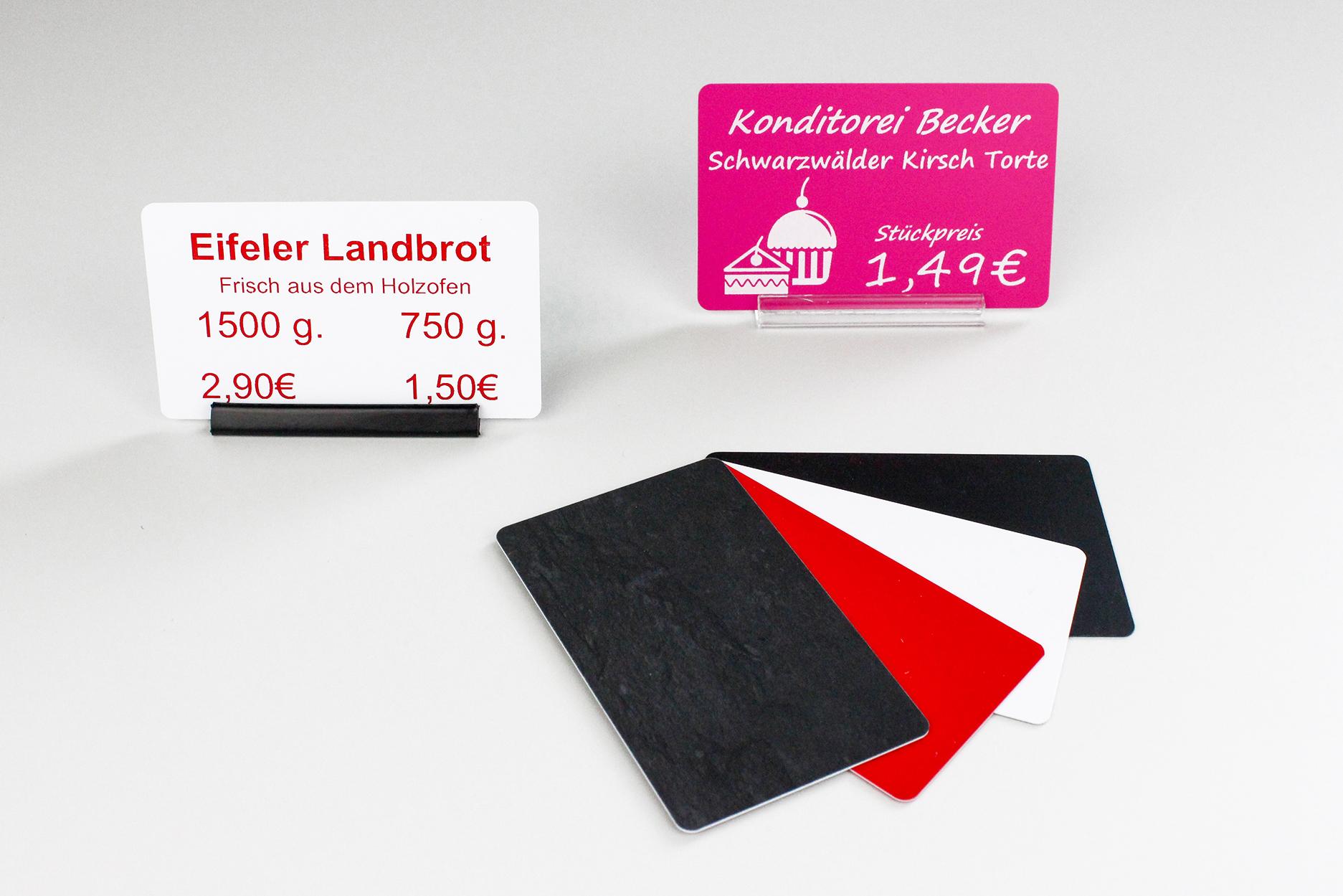 Plastikkarten, 86 x 50 x 0,50 mm, Schieferoptik, 100 Karten pro Pack