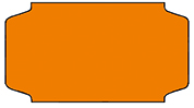 Haftetiketten, ablösbar, 31 x 19 mm, leuchtorange, 32 Rollen à 1.000 Etiketten