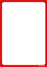 Plakatpapier, DIN A2, Rand rot, 50 Plakate pro Pack