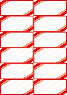 "Bogenpreisschilder ""Eckrand"", DIN A4, unterteilt in 105 x 49 mm, rot, 50 Bögen à 12 Preisschilder"